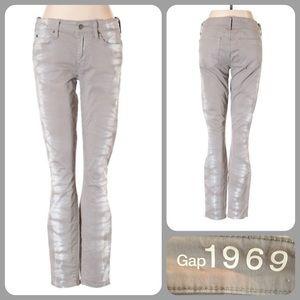 GAP Gray Tie Dye Jegging Skinny 28 waist NWOT